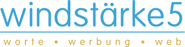 windstaerke5 | worte | werbung | web Logo